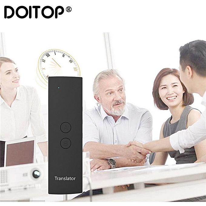 Other DOITOP T6 Smart Translation Intelligent Translator Smart Language Translator Easy Trans Instant Voice Speech BT 28 Languages+APP WOEDA à prix pas cher