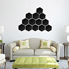 432356248 12Pcs Acrylic 3D Hexagon Mirror Wall Stickers Removable Decal Home Art Decor  DIY
