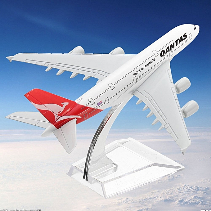 UNIVERSAL 16CM Qantas Airways Australia Airlines A380 Airplane DieCast Plane Model Toy à prix pas cher