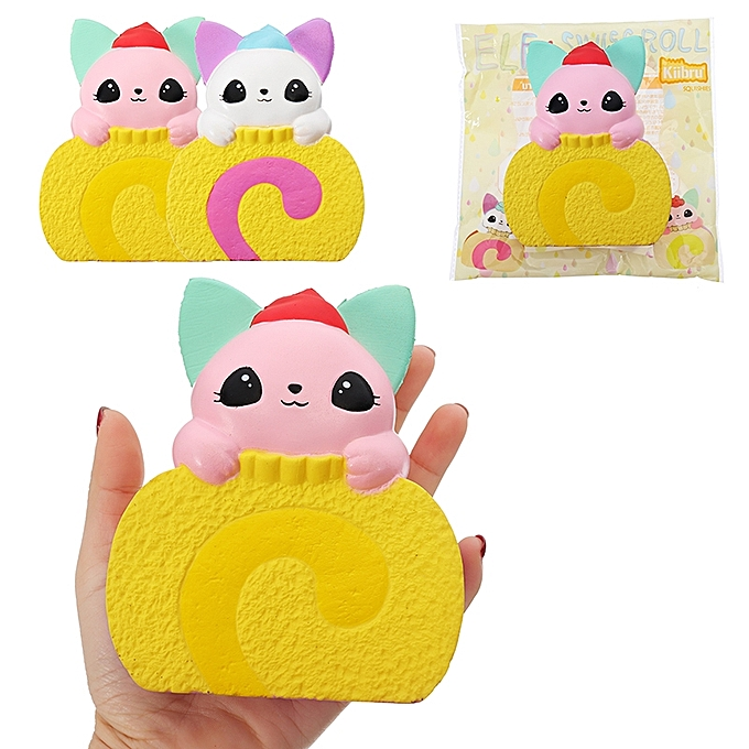 UNIVERSAL Kiibru Squishy Cat Swiss Roll Cake 10.5cm Licensed SFaible Rising With Packaging Collection Gift Soft Toy- à prix pas cher