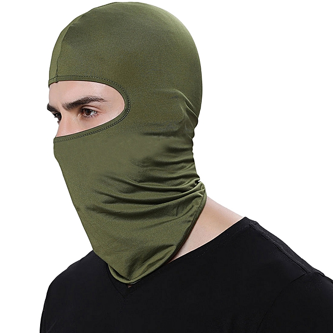 Autre Outdoor Sports Neck Face Mask Winter Warm Ski Snowboard Wind Cap Police Cycling Balaclavas Motorcycle Face Mask( Army vert) à prix pas cher