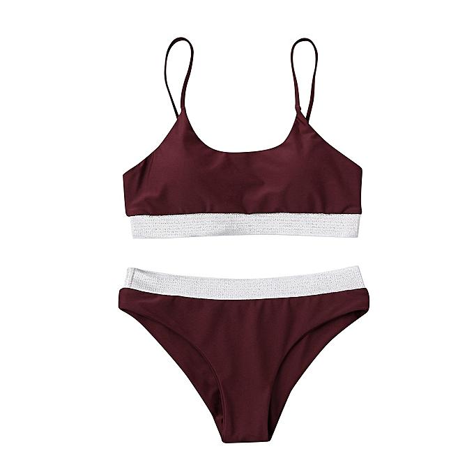 Autre Swimsuits femmes Wohommes Swimming Suit Ladies trajes de ba o Swimwear Beach Suit Short  LRSS(Wine) à prix pas cher