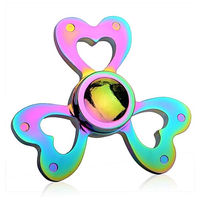 Sunshine Alloy Couleurful Hand Spinner 360 Tri Fidget EDC Focus Desk Hand Toys-1 à prix pas cher