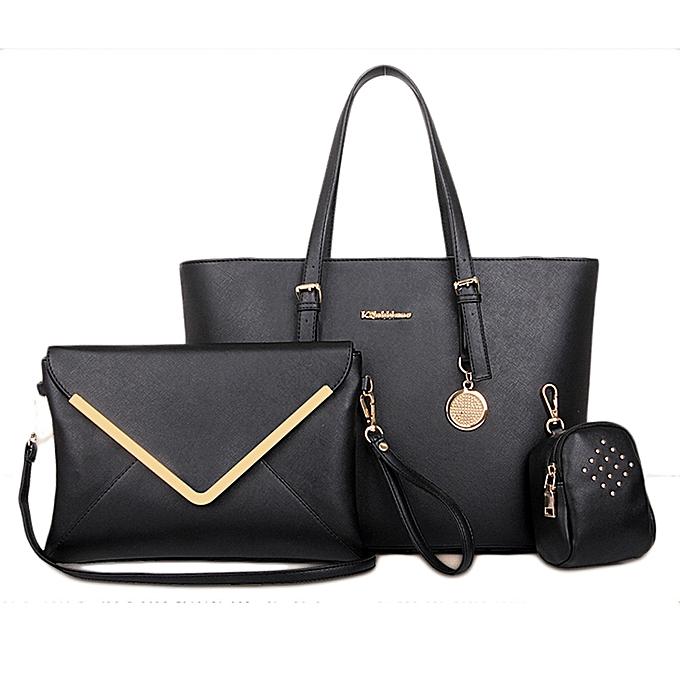 Siketu femmes Office Messenger 3 Bags Per Set Handbag Casual Bag BK- noir à prix pas cher