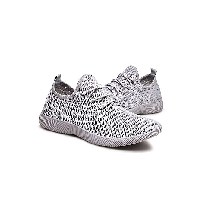 HT  s Breathable Breathable s Sport Shoes Outdoor Running Jogging Shoes -Grey à prix pas cher    Jumia Maroc 3f08d4