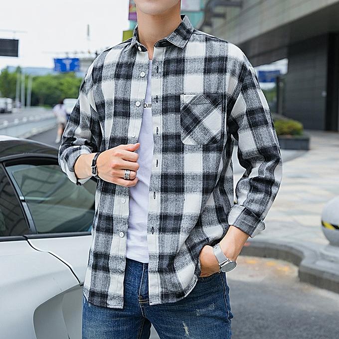Tauntte Pour des hommes Shirts Turn-down manche longue Shirts (gris) à prix pas cher