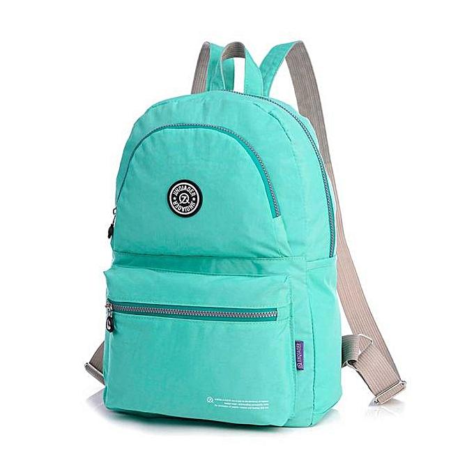 nouveauorldline imperméable Nylon voyage Satchel Shoulder sac sac à dos School sac à dos GN-vert à prix pas cher
