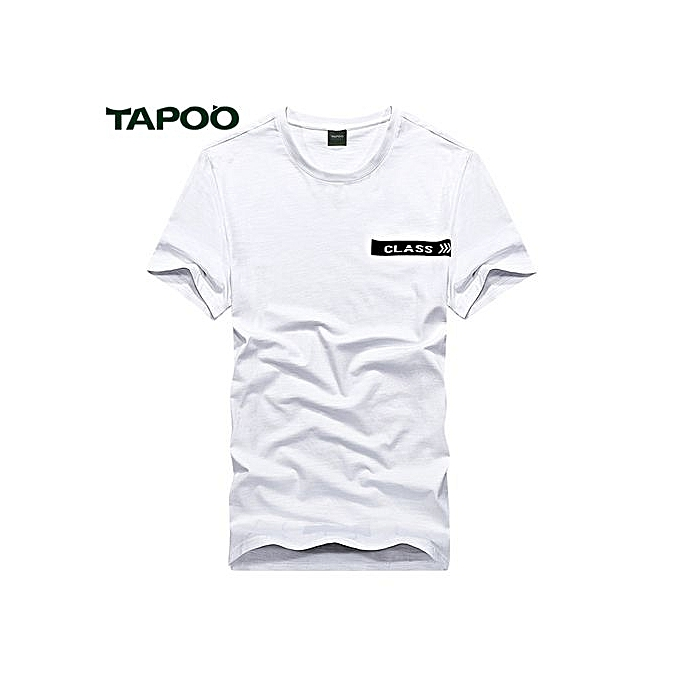 Tapoo TAPOO Décontracté Class Printed Round Neck Male Slim Fit T-shirt(2XL) à prix pas cher