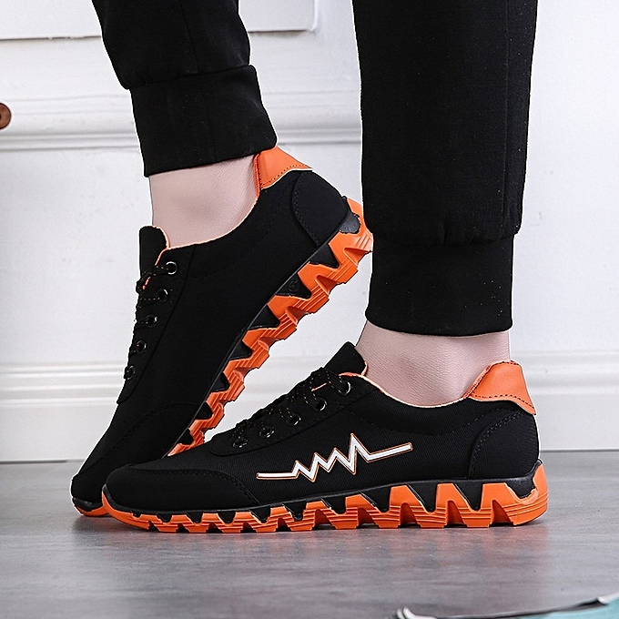 OEM New sports chaussures hommes casual chaussures hommes chaussures Korean plate chaussures low to help coconut cloth chaussures-Orange à prix pas cher