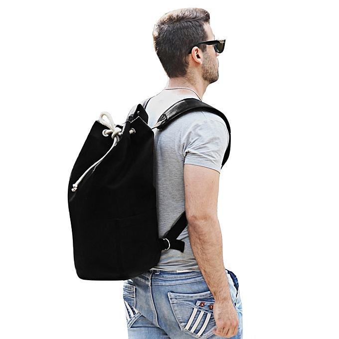 GENERAL Leadintelligent Hommes Drawstbague toile Bucket Gym sac portable sac à dos à prix pas cher