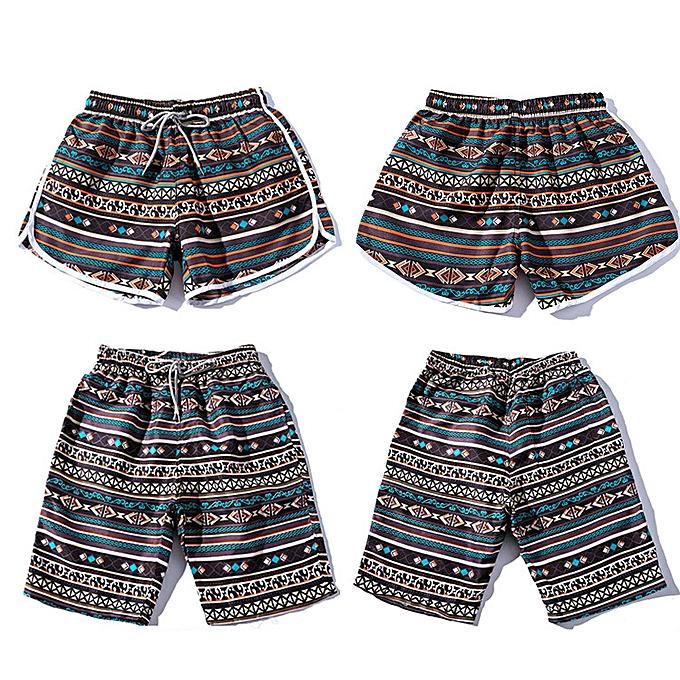 Fashion Summer Men Couples Beach Comfy Floral Bohe Swimwear Shorts Trunk Nickel Pants L à prix pas cher