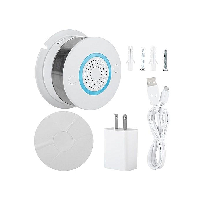 Other Smart Home Security Wireless Fire Smoke Detector Alarm GSM GPRS SMS Alarm System US 100-240V à prix pas cher