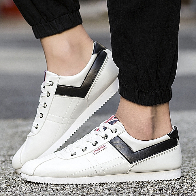 OEM New casual chaussures hommes chaussures student chaussures tide chaussures Korean sports chaussures leather panel chaussures-blanc à prix pas cher