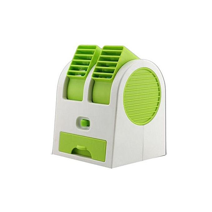 Generic Haojks-Portable USB Mini Air Conditioner Cooler Fan Dual Air Conditioner GN à prix pas cher