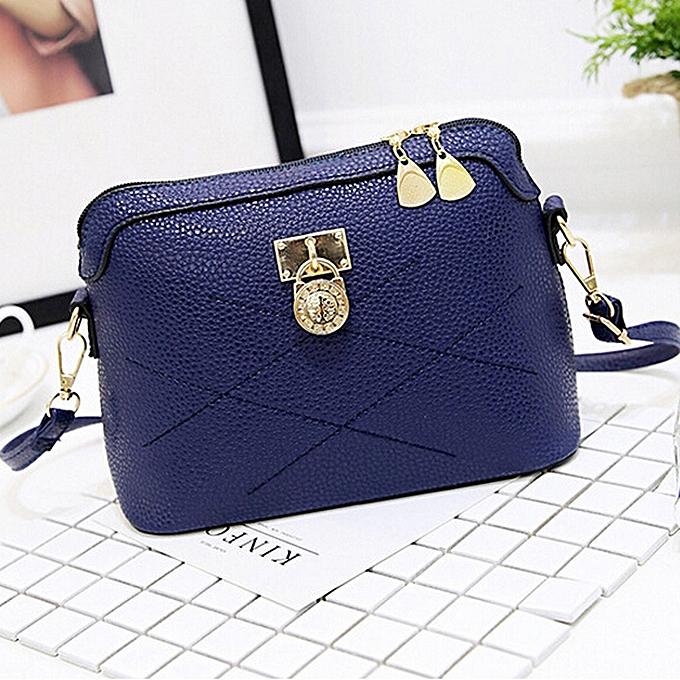 Siketu femmes sac Soft cuir Messenger sacs Handsacs bandoulière Ladies Shoulder sac BU-bleu à prix pas cher