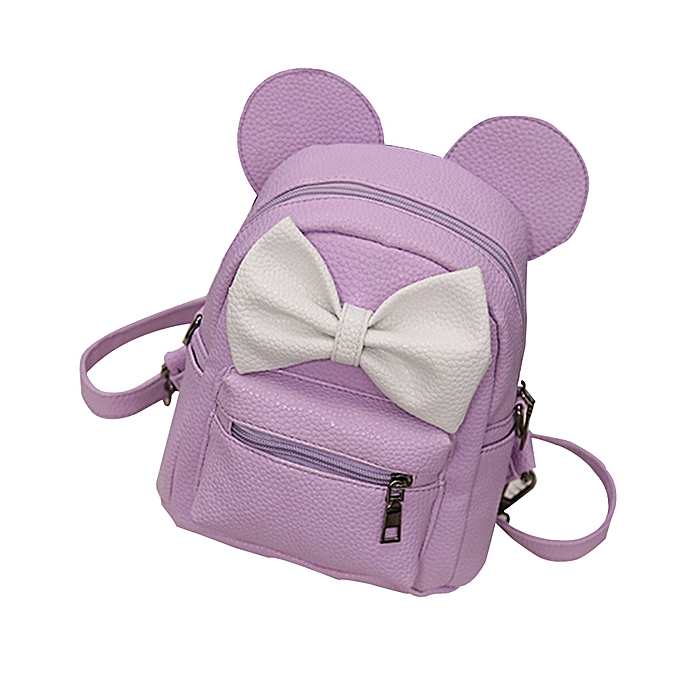 Fashion 2019 New Mickey Backpack Pu Leather Female Mini Bag Wohommes Backpack Sweet Bow Teen Girls Backpacks School Bag Lady Shoulder bag à prix pas cher
