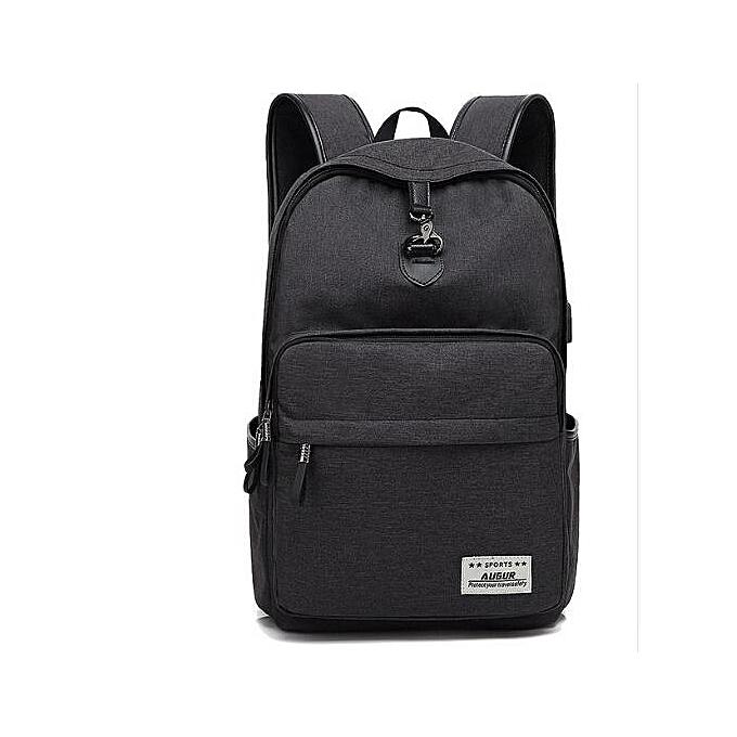 OEM Refined nouveau Design mode Solid Couleur toile Hommes's sac à dos Student sac à prix pas cher