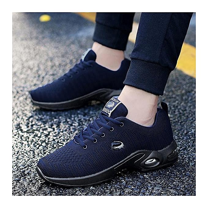 Fashion   Knitted Fabric Shock Shock Fabric Absorption Air-cushion Sole Trainers Casual Sneakers-EU à prix pas cher  | Jumia Maroc 446cdb