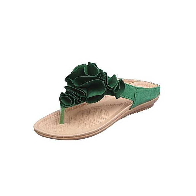 Fashion Correponde Wohommes Summer Beach Flip Flops Casual Flat chaussures Lady Pretty Floral Sandals à prix pas cher