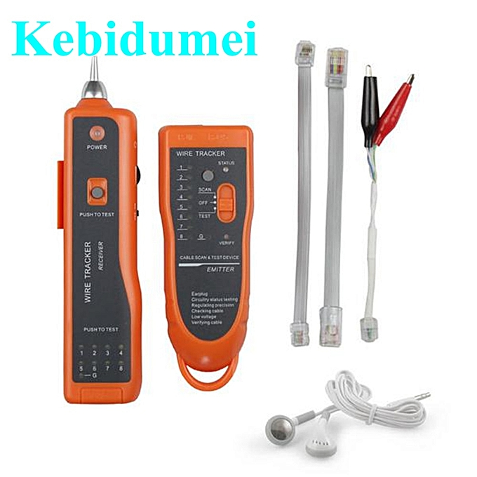 Other Kebidumei Network Ethernet Tester UTP STP RJ45 RJ11 Cat5 Cat6 LAN Cable Wire Telephone Line Scanning Detector  Tool New à prix pas cher