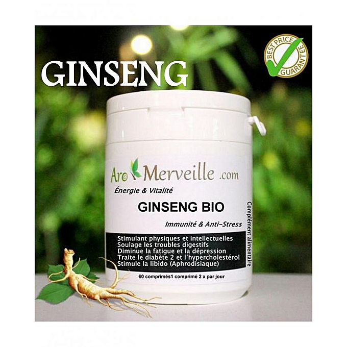 Vitamine GINSENG - 60 comprimés | Acheter en ligne | Jumia