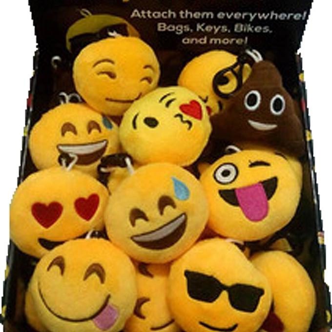 Autre Funny emoji cartoon face plush toys keychain pendant cute soft stuffed QQ mini dolls round smile keyring gift(style 1) à prix pas cher