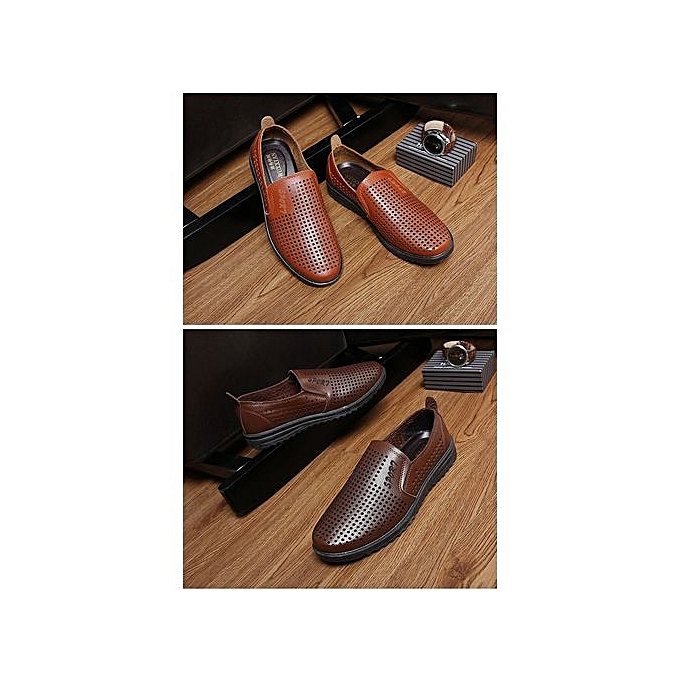 Générique Summer Causal Shoes   Loafers Quality High Quality Loafers Leather Moccasins   Driving Shoe Flats For Man Plus Size-Jaune  à prix pas cher  | Jumia Maroc 3d8a10