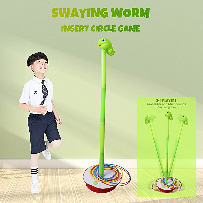 Autre Swaying Worm Insert Circle Game 3 Feet Wriggling Worm Enfants Families Playing Game 19pcs à prix pas cher