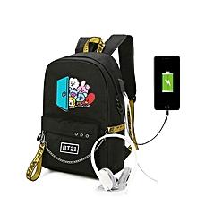 5d9d3366a6dfa BTS BT21 43x13x30cm USB Oxford Bag Backpack(Color Black)
