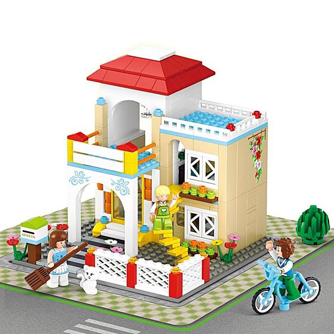 Autre Petite Amie Doux Maison Enfant Rêve Shopping Série Blocs Ensembles Modèle Jouets Mini Brique Casse-tête à prix pas cher