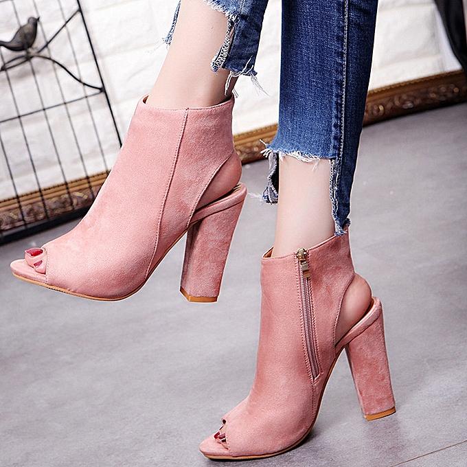 Générique Sedectres WoHommes  Fashion Suede  Solid Color Peep Toe Toe Peep Wedges High Heeled Shoes Sandals Pink-Pink à prix pas cher  | Jumia Maroc 06f7c2