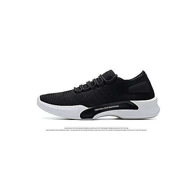 OEM Beauty Fashion Spring 28 New Men's chaussures Breathable Sports chaussures Korean Version Of The Casual chaussures Men's Fashion Running chaussures-noir à prix pas cher