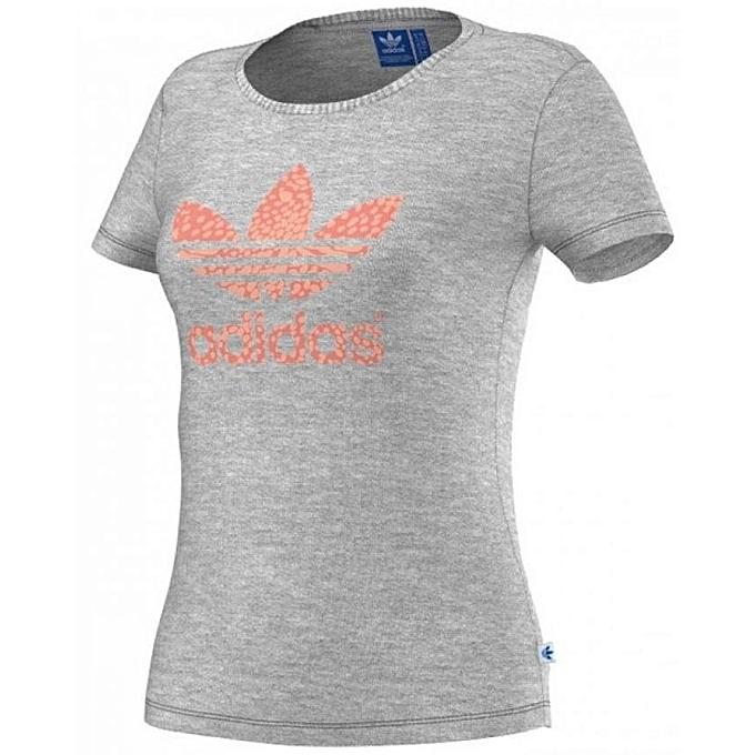 Shirt Trefoil Gris T Adidas Femme S19773 zfaPHn6q