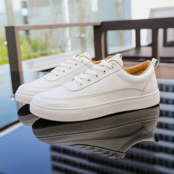 Other nouveau mode été Décontracté PU cuir Flat chaussures Student Loafers chaussures  -Beige à prix pas cher