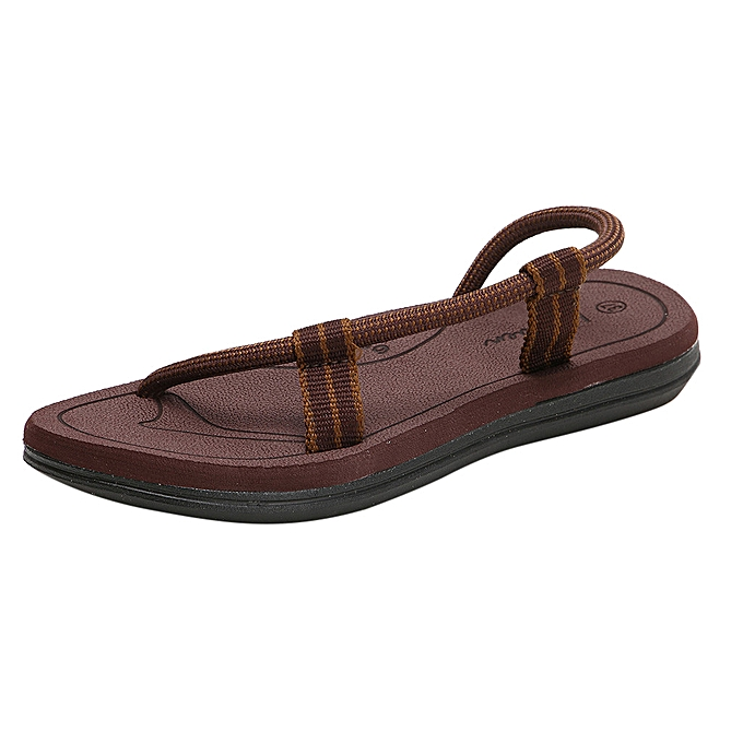 Fashion femmes Summer Couples Casual Flats Mens Antiskid Sandals Beach chaussures à prix pas cher    Jumia Maroc