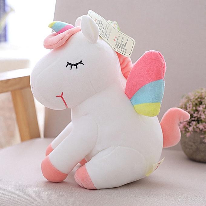 Autre Unicorn Plush Toy Cute Unicorn Doll Cute Animal Stuffed Unicornio Soft Pillow Baby Kids Toys for Girl Birthday Christmas Gift(blanc) à prix pas cher