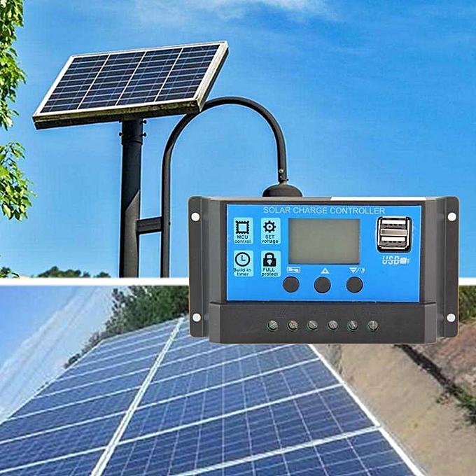 OEM New style Rodeal 10A Solar Chargeur  Contrôleur Panneau Solaire Battery Intelligent Régulateur With USB Port Display 12V 24V à prix pas cher