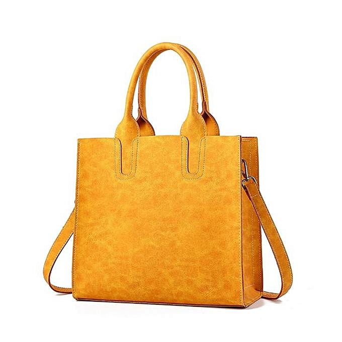 Fashion femmes Casual Large Capacity Handbags Microfiber Solid Shoulder Bags à prix pas cher