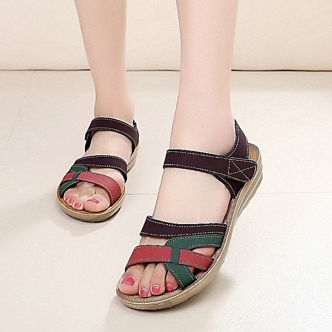 OEM Ladies Summer Fashion Leather Sandals Wedges Comfort Big Taille chaussures-Multi à prix pas cher    Jumia Maroc