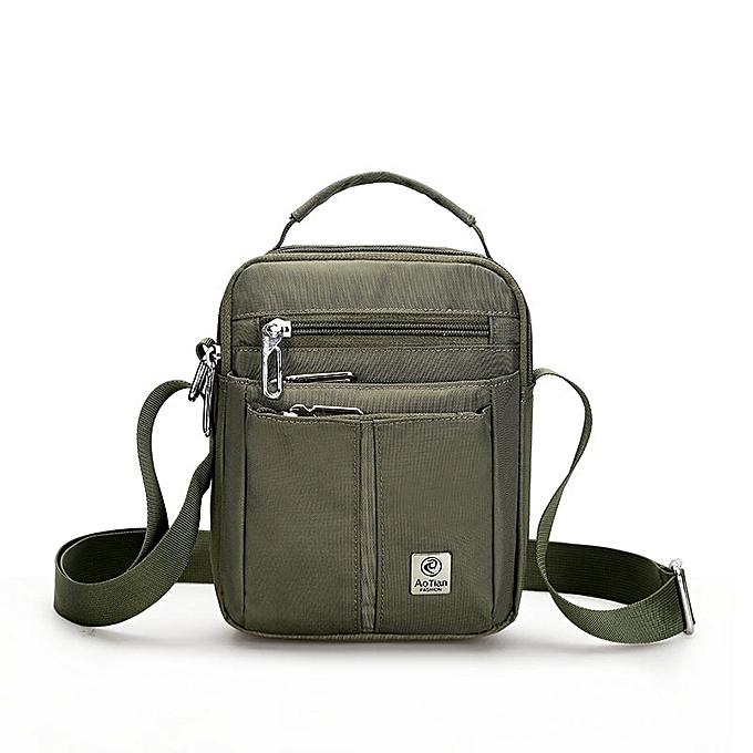 Other 2018 High Quality Nylon Messenger Bags Waterproof Shoulder Tote Weekend Travel Sacoche Homme Handten Bolsa Feminina Handbag(vert) à prix pas cher