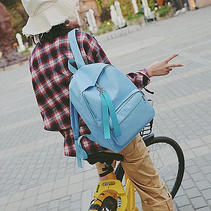 Fashion blicool travel wallet Wohommes Fashion Candy Couleurs Shoulder wallets Backpack Travel Rucksack BU-bleu à prix pas cher