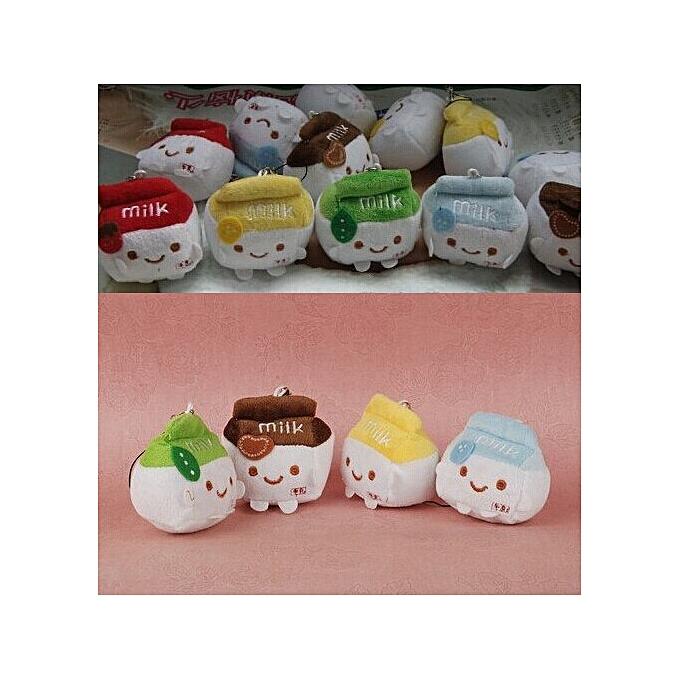 Autre Kawaii 6CouleursFor Choice   6CM Milk Can 6CM Plush Stuffed TOY String DOLL ; Plush Wedding Bouquet Gift TOY DOLL(6) à prix pas cher