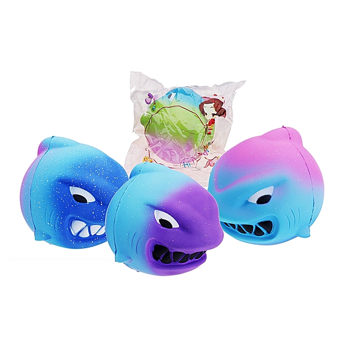 UNIVERSAL Squishy Animal Fierce Shark 11cm SFaible Rising Toy Gift Collection With Packing- rouge bleu à prix pas cher