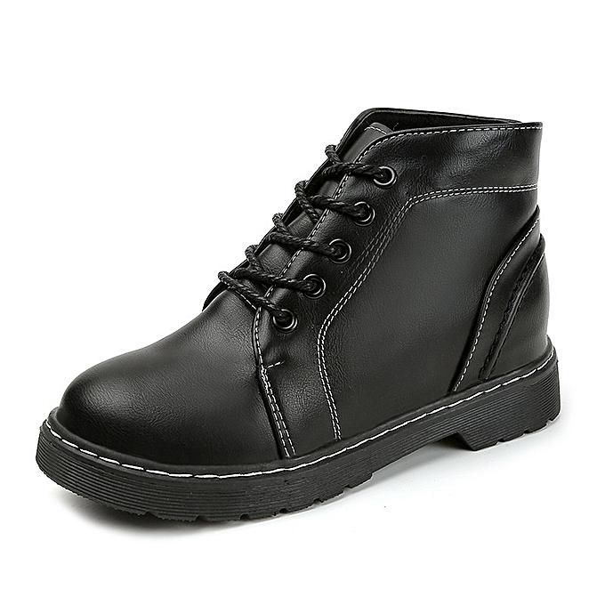 Autre Stylish Korean WoHommes  Leisure Anti-slip Thick Bottom Bottom Bottom Lacing  Martin Boots à prix pas cher    Jumia Maroc 876a20
