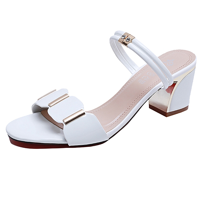 Fashion Hiamok Wohommes Fashion Casual Outdoor Slippers Ladies Party chaussures Square Heels Sandals à prix pas cher    Jumia Maroc