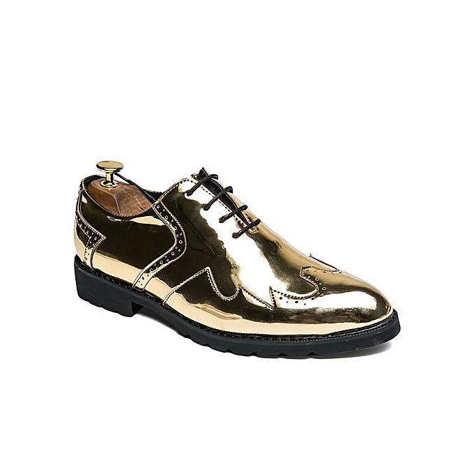 Fashion Trend Men Casual Oxfords Leather chaussures (or) à prix pas cher    Jumia Maroc