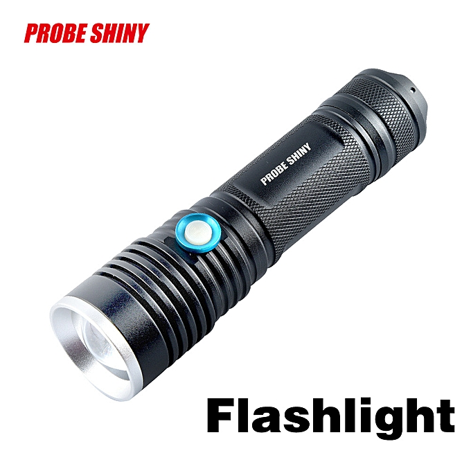 Electronic Outdoor Portable Zoomable Flashlight XM-L T6 LED Torch Lamp Penlight 26650 à prix pas cher