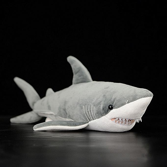 Autre 16  Lifelike Great blanc Shark Stuffed Toy Soft Shark Plush Toys Simulation Ocean Animal Toy Christmas Gifts For Kids(bleu Whale) à prix pas cher
