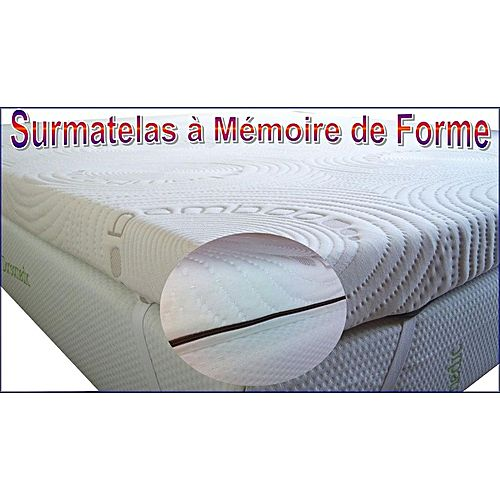 surmatelas m moire de forme contre le mal de dos 140x190 cm blanc achat mobilier. Black Bedroom Furniture Sets. Home Design Ideas