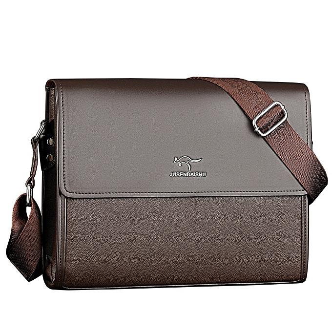 Other portable Hand Work Affaires Office Male Messenger sac Hommes Briefcase For DocuHommest Handsac Satchel Portfolio Bussiness Partfel sac(Cross marron) à prix pas cher
